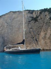 The sailing yacht of the Esta 52 project, the area
