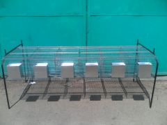 Cage equipment for rabbit-breeding