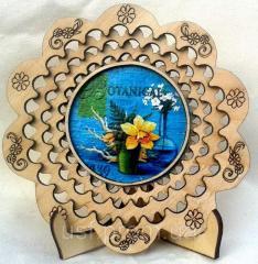 Тарелка сувенирная цветы