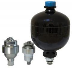 Accumulators hydraulic (hydroaccumulators) balloon, piston, membrane. Productions Hydac, Parker, Orsta, Fox, Vickers, Bosch-Rexroth, Olaer, Epe. Hydroaccumulators