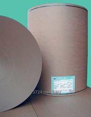 Cardboard in rolls.