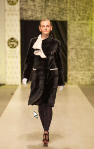 Coat from short-haired mink, the Coat mink E11/11