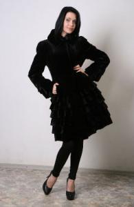 Coat mink E308, mink coats
