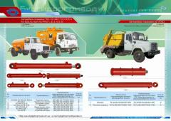 Hydraulic cylinders for dump trucks from the