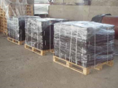 Briquette peat fuel packed up