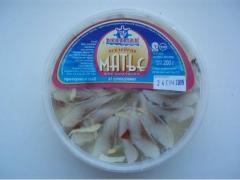 Рыбные пресервы , Сельдь Матье филе-кусочки в