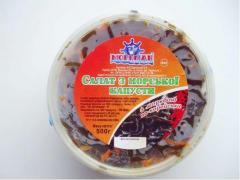 Салат из морской капусты с морковью по-корейски в