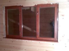 Окна с деревянными рамами остекленные под заказ