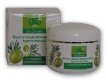 Cream - face packs. The mask cream restoring with