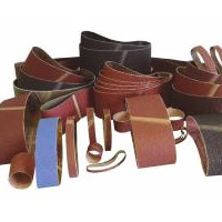 Sanding belts on manual shlif. machines and