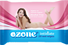 Wet towel wipes for intimate hygiene of TM Ozone,