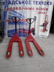 SECOND-HAND hydraulic trolleys