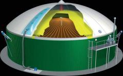 Biogas installation, the Equipment on biomass