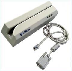 Bank card reader, magnetic card reader