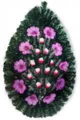Ритуальный траурный венок с искусственными цветами