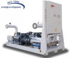 Водяной  чиллер с водяным охлаждением конденсатора