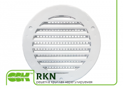Ventilating grate round unregulated RKN.