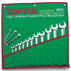 Set of keys of the combined 16 pieces 7-32, TOPTUL