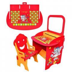 Детская парта с магнитной доской и стульчиком