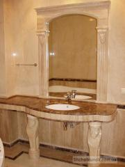 Marble complex in a bathroom