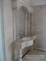 Столешница для ванной комнаты мраморная