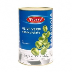 Olives without stone, olives green