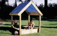Sandbox with an awning 120kh120kh180sm,