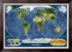 Картина Национальная, географическая карта мира,