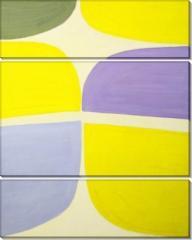 Модульная картина Лиловый и лимонный,  Терри Фрост