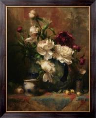 Картина Пионы в вазе, Ридель, Давид