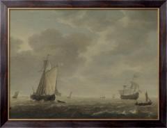 Картина Голландский военный корабль и суда