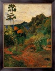 Картина Тропическая растительность, 1887  , Гоген,