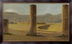 Картина  Вид из Помпеи, 1873, Ниттис, Джузеппе Де