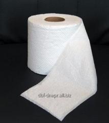 Toilet paper in rolls