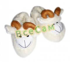 Lambs slippers - the size 35-40