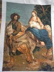 Вишита картина Ікона 'Втеча з Єрусалиму' ручна