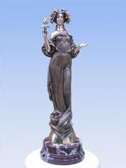 Sculpture Muse bronze, marble 53х16х15 of 2004.