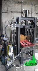 Пресс гидравлический для производства шлакоблока и