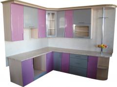 Кухня серо-фиолетовая