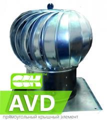 Active vortex deflector AVD. Deflectors, umbrellas