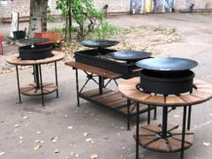 Zharovy device Don frying pan, equipment for