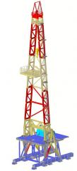 Tower of the drilling rig mast VBShch 46-600-VG-R
