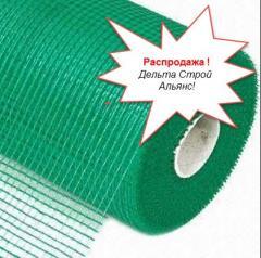 Сетка штукатурная 145 плотность ячейка 5х5 зеленая