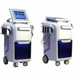 Device of cavitation and vacuum therapy of KES