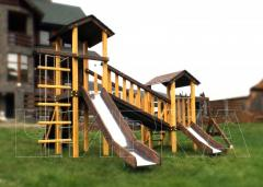 Children's complex with a swing