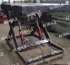 One-scissors lifting hydraulic tables of KS