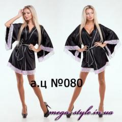 Домашний халат черный АЦ080