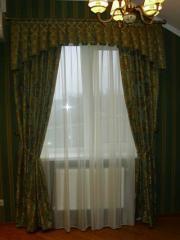 Дизайн и пошив штор, шторы в кабинет, микровуаль,