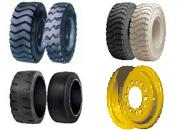 Rims for loaders: integral, folding, rims for