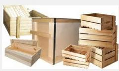 Production of the wooden container of any sizes